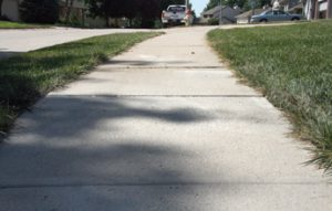 Sidewalk and walkway leveling in Waukesha WI
